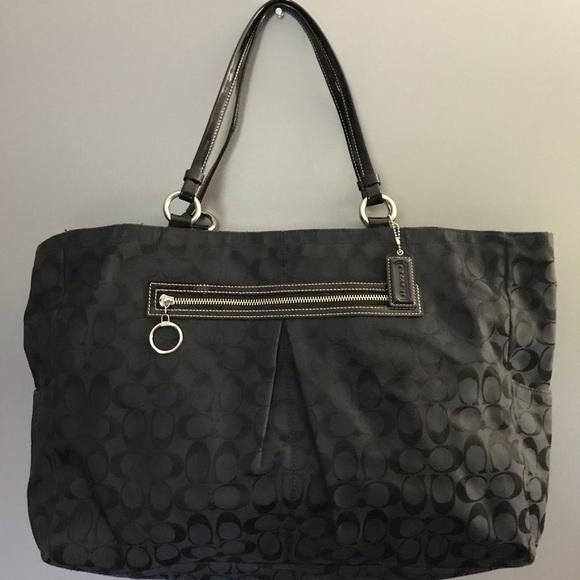 Coach Handbags - Coach Signature Print Travel Bag